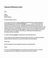 Character Reference Letter  Search Engine  Image  Character