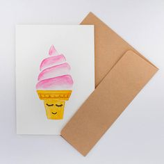 Carte de souhaits Aquarelle personnage idée cadeau Craft, Container, Folded Cards, Gift Ideas, Watercolor Painting, Persona, Drawing Drawing, Creative Crafts, Basteln