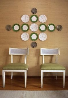 angie hranowsky's version of a plate wall... photo by Julia Lynn.