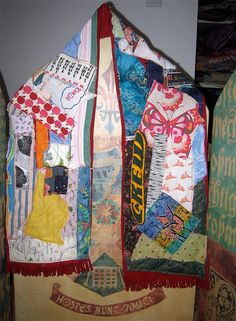 Crazy Quilt  SCARF Shawl Upcycled & Altered Patchwork by mybonny, $34.00