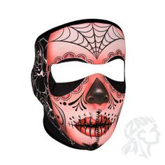 Find the Zan Headgear Sugar Skull Full Face Mask - at Dennis Kirk. Shop our complete selection of Dirt Bike Motorcycle Goldwing Snowmobile parts and accessories including the Zan Headgear Sugar Skull Full Face Mask - Sugar Skull Face, Skull Face Mask, Face Masks, Halloween Gifts, Halloween Masks, Halloween Ideas, Motorcycle Face Mask, Women Motorcycle, Motorcycle Gear