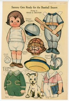 76.2940: Sammy Gets Ready for the Baseball Season | paper doll | Paper Dolls | Dolls | National Museum of Play Online Collections | The Strong
