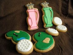 golf themed cookies