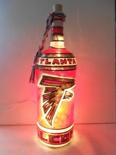 Check out this item in my Etsy shop https://www.etsy.com/listing/473368991/atlanta-falcons-inspired-bottle-lamp