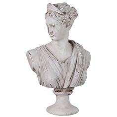 Urban Trends Cement Greek Deity Artemis in Antique White & Reviews | Wayfair