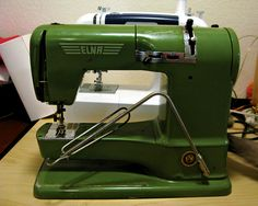 """My """"New"""" Elna Supermatic Sewing Machine by Milky Robot ✂, via Flickr http://www.flickr.com/photos/themuddycat/5281289195/#"""