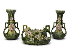 15% OFF Art Nouveau Majolica Jardiniere and by LeBonheurDuJour #VOGUETEAM