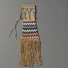 Contemporary Reproduction of an Apache Beaded Hide Pipebag