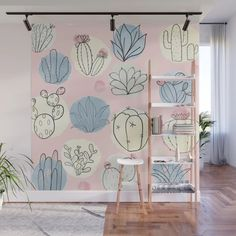 Buy Bubble Cactus Wall Mural by allthingstore. Worldwide shipping available at Society6.com. Just one of millions of high quality products available.