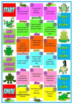 Adverbs of frequency board game. | ESL Games and ...