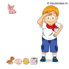 Spel 11:Welke boer heeft het eerst al zijn dieren, speldag thema boerderij voor kleuters, kleuteridee.nl , farm games for preschool field da...