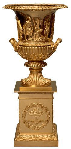 Pierre-Philippe Thomire  <br/>A Very Fine Chased Gilt Bronze Vase  <br/>Paris, Empire period, circa 1810  <br/>Height 65 cm  <br/>