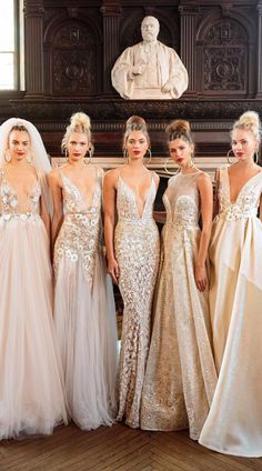 Now that's our kind of line up. Stunning new gowns straight from the Bridal Fashion Week runway. Now that's our kind of line up. Stunning new BERTA gowns straight from the Bridal Fashion Week runway. Bridal Dresses, Wedding Gowns, Bridesmaid Dresses, Prom Dresses, 2017 Wedding, Dream Wedding, Wedding Wear, Wedding Attire, Wedding Bells