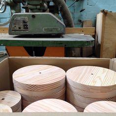 #primary #clocks next stop the #screenprinters #byShop #madebyGB #douglasfir #timber