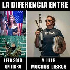 La diferencia entre leer un solo libro, o de leer muchos libros