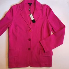 BNWT Talbots Blazer BNWT gorgeous pink cotton/poly blazer. Super stretchy and comfy. Great for the office or perfect with jeans! Size: Medium Petite. Talbots Tops
