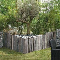 Muret en ardoise  De l'ardoise dans nos jardins