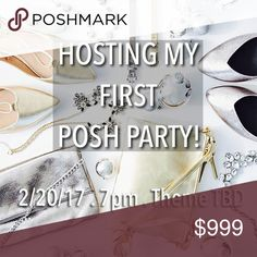 ⭐️ help spread the word ⭐️ So excited to be hosting my first Posh Party Monday 2.20.17 at 7pm, theme TBD.  Feel free to share your favorite listings and I cannot wait to select some amazing Host Picks!  Feel free to spread the word as well!  Thank you so much!  🛍❤⭐️ Accessories