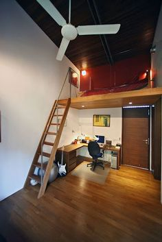 Great loft idea for a teenager.
