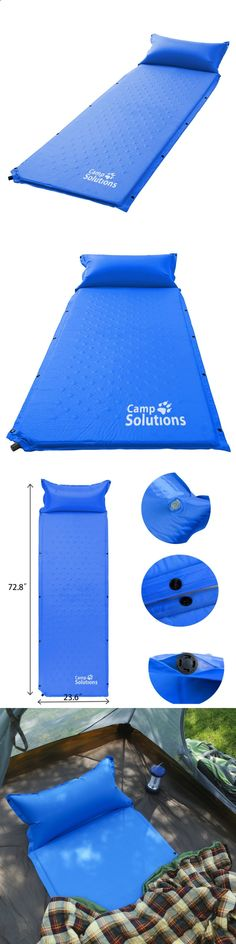 Camping Sleeping Pad - Mattresses and Pads 36114: Self Inflating Sleeping Pad Inflatable Air Camping Sleep Pad Outdoor Blue New -> BUY IT NOW ONLY: $37.02 on eBay!
