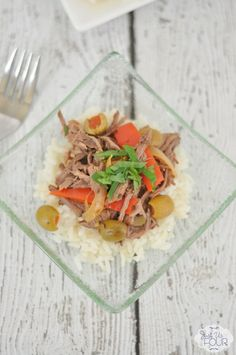 Crockpot Cuban beef is the BEST slow cooker recipe. So easy and so much flavor.