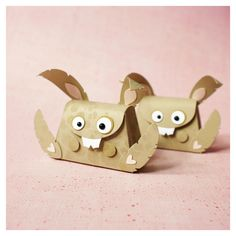 on with the show! - little bunnies #bunny #papercraft #giftbox #package #punch art