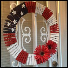 Easy clothespin wreath