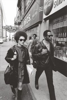 Kathleen Cleaver and husband Black Panther 'Minister of Information' Eldridge Cleaver. The couple fled the US in 1968, aftter he violated a parole order, returning in 1974. Today Kathleen is a law lecturer in Atlanta. Eldridge died in 1998.