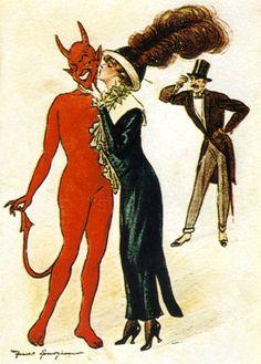 Vintage Ad Satan, Dark Fantasy, Fantasy Art, Devil Aesthetic, Arte Horror, Expo, Coven, Animes Wallpapers, Occult