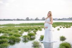 Sunset Maternity Session. Maternity Session in Water Pictures.  Maternity Photography Milford, Connecticut