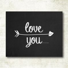 Love you Chalkboard Art Print (CB8) by MelissaFlemingDesigns on Etsy