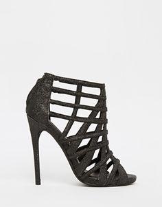 Steve Madden Marquee Black Embellished Heeled Sandals