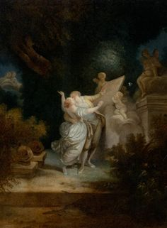 Romantic love is as fantastic as any of the gods, or sasquatch. Page: The Sermon of Love Artist: Jean-Honore Fragonard Style: Rococo Genre: genre painting Technique: oil Material: canvas Dimensions: x cm Gallery: Private Collection Rococo Painting, Oil Painting Reproductions, Fragonard Paintings, Jean Antoine Watteau, Jean Honore Fragonard, French Art, French Rococo, Art Plastique, Erotic Art