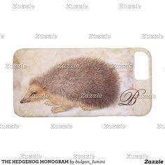THE HEDGEHOG MONOGRAM iPhone 7 CASE #nature #animals #fineart #hedgehogs #beauty #drawings #antique #electronics #case
