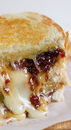 Ultimate Grilled Cheese with Bacon Jam. Right - not healthy. However it sounds so good, gotta try at least once.