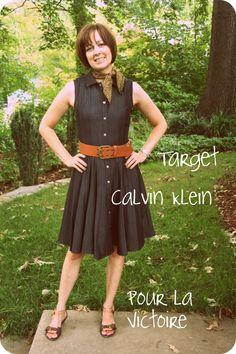 Denim Calvin Klein shirtdress. Level 4.