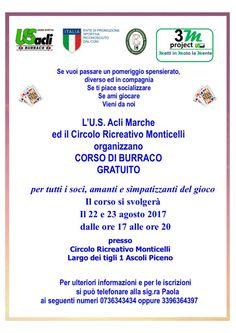 Al Circolo Ricreativo Monticelli di Ascoli Piceno al via liniziativa 3m project  Metti in moto la mente