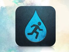 Steps for Water iOS App Icon by Rosetta Icon Design