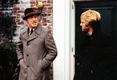 Max von Sydow and Robert Redford as G. Joubert and Joseph Turner in Three Days of the Condor.