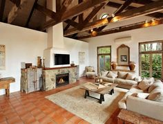 I have always loved exposed trusses. Journey through this gorgeous country style villa with French influence in Australia. Country Stil, Country Decor, Timber Windows, Big Windows, Ceiling Windows, Ceilings, Rustic French, French Country, French Cottage