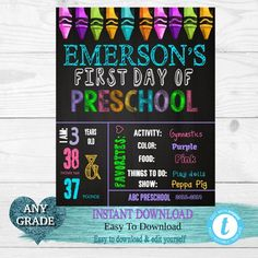 INSTANT DOWNLOAD Back to School Sign Senior Year 8x10 Sign First Day Of School Sign Photo Picture Print Rainbow 12th Grade