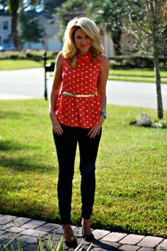 Just Dandy by Danielle: Outfit | Christmas Polka Dots