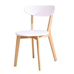 Silla Bosque Blanca $34.000 + IVA  Ancho: 53 cm Largo: 49 cm Altura: 78 cm Altura asiento: 45 cm Color: Café natural con MDF blanco Material: Madera de olmo  Código Producto: ASC-028-B