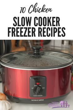 Get dinner on the table faster when you prep slow cooker freezer meals. These recipes are easy to dump into a freezer bag and then into your slow cooker for an easy chicken dinner. It's a really easy list of chicken dinners. Gotta love your crock pot! Slow Cooker Meal Prep, Slow Cooker Freezer Meals, Healthy Slow Cooker, Slow Cooker Recipes, Crockpot Recipes, Freezer Recipes, Pasta Recipes, Slow Cooking, Rice Recipes
