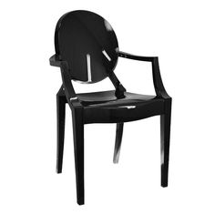 Black Lucite Arm Chair - At Home