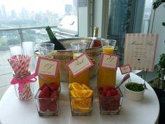 Adorable mimosa bar idea