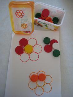 figuur naleggen, volgens kleuropdracht