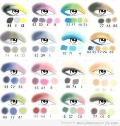 combinaciones de colores sombras de ojos
