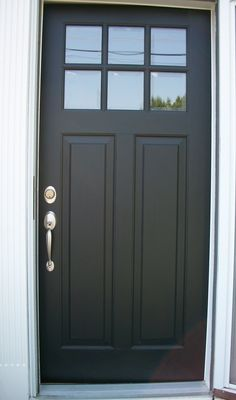 front door paint colors – Want a quick makeover? Paint your front door a differe… Sponsored Sponsored front door paint colors – Want a quick makeover? Paint your front door a different color. Here's some inspiration for you. Black Front Doors, Wood Front Doors, Painted Front Doors, Entry Doors, Black Exterior Doors, Fromt Doors, Entrance, Front Door Handles, Garage Exterior