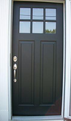 Porte d'entré noir